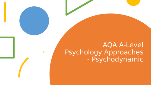 AQA A-level Psychology Psychodynamic Approach Lesson