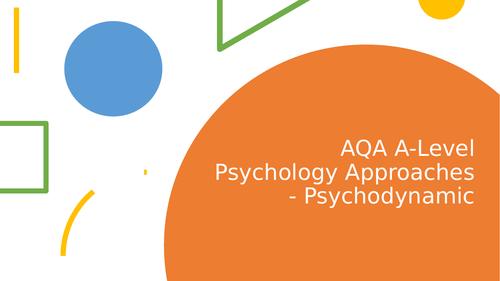 AQA A-level Psychology Psychodynamic Approach Lesson