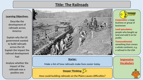 Railroads - OCR J411 The Making of America 1789-1900