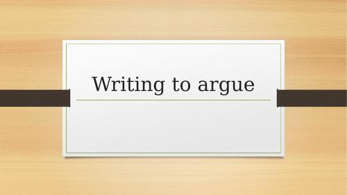 Writing to argue.