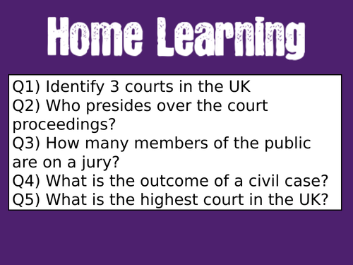 The Nature of Criminality in the UK (3 lessons)
