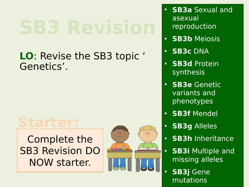 Edexcel SB3/CB3 Teacher Led Revision Lesson