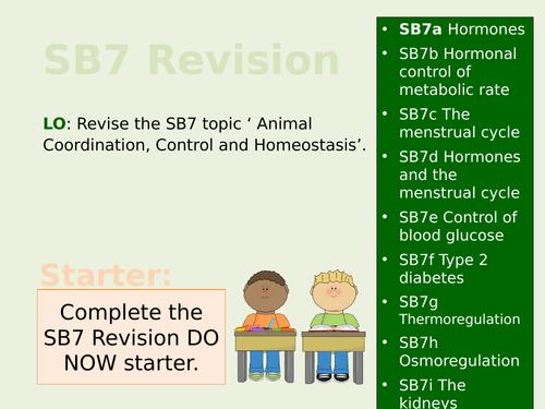 Edexcel SB7/CB7 Teacher Led Revision Lesson