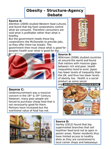 Geography of Food - Obesity Lesson
