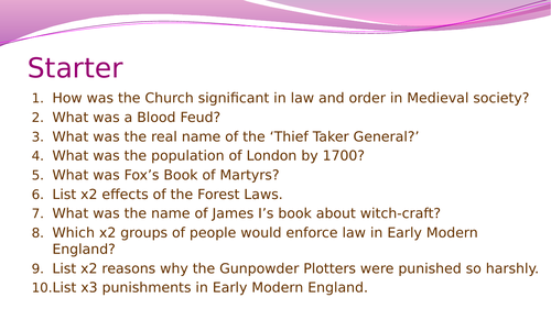 Crime and Punishment in the period 1700-1900