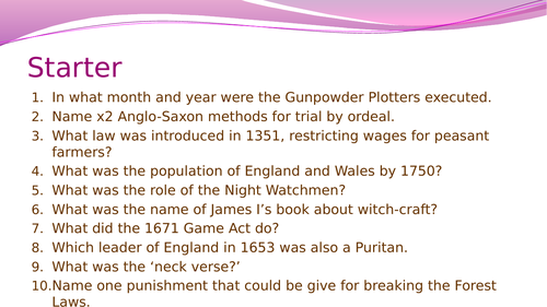 Crime and Punishment in the period 1700-1900: Smuggling, poaching and the Highway Robbery