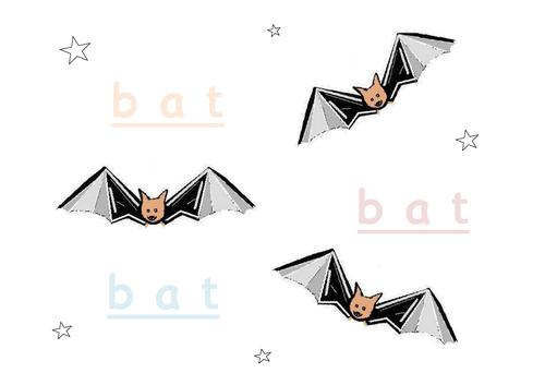 Phonic 'a' in bat
