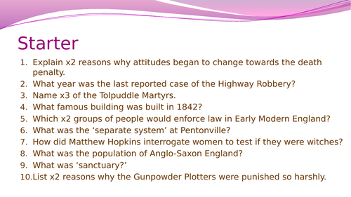 Crime and Punishment (1700-1900): The role of the factors