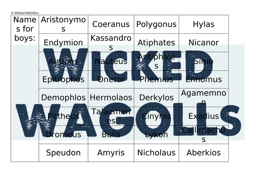 Traditional Ancient Greek Names - Boys and Girls
