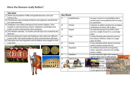 Romans Knowledge Organiser