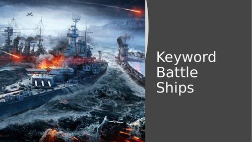 OCR J276/J277 - BattleShips Keyword Game