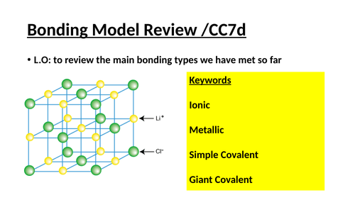 Edexcel structure and bonding revision higher