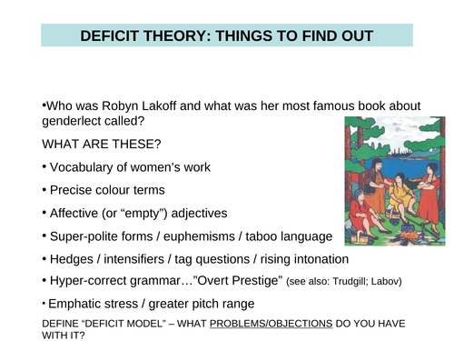 Gender powerpoints that cover theory