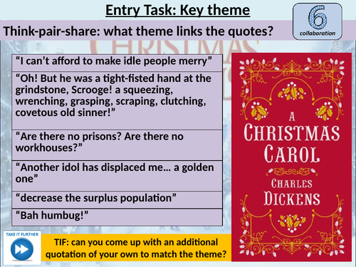 Greed in A Christmas Carol FULL LESSON | Teaching Resources