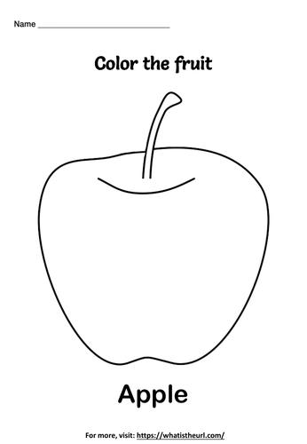 Fruit coloring worksheets
