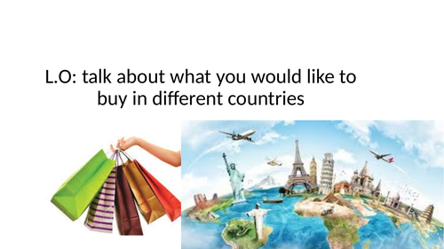 what you buy in different countries