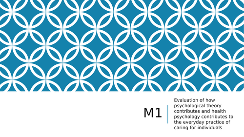 Health and Social Care Unit 22 Psychology M1 D1