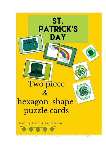 ST. PATRICK'S DAY MATCHING PUZZLE CARDS