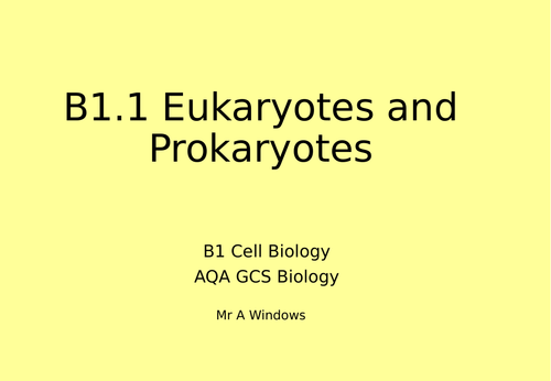 B1 Cell Biology - AQA GCSE biology (9-1)