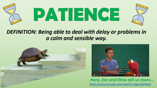 Patience Collective Worship!