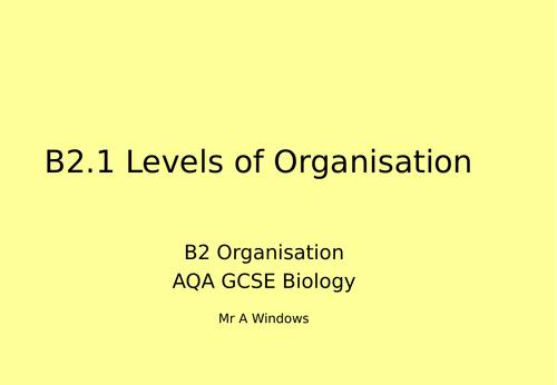 B2 Organisation - AQA GCSE Biology (9-1)