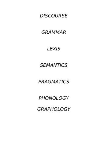 frameworks for language analysis