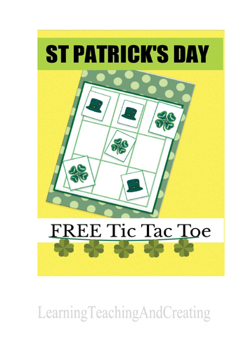 ST. PATRICKS DAY FREE TIC TAC TOE GAME