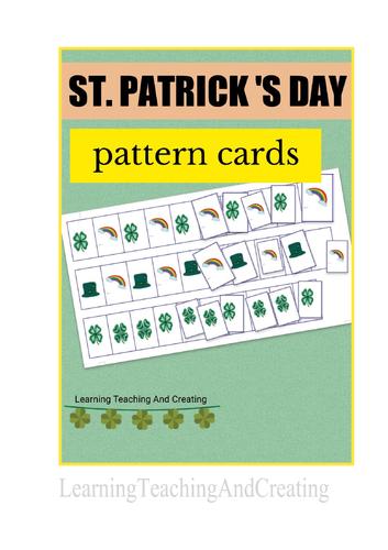 ST. PATRICK'S DAY KINDERGARTEN PATTERN CARDS