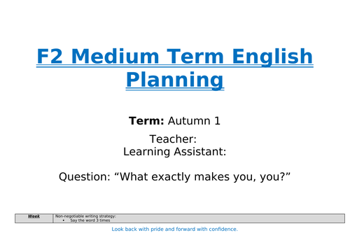 English planning for F2