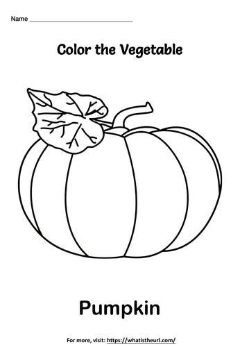 Vegetable coloring worksheets