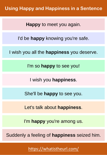 Let's Learn English Using Happy and Happiness in a Sentence