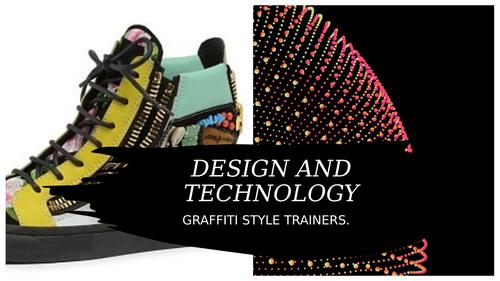 Graffiti style trainer design