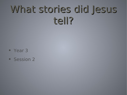 Jesus and his parables - the lost coin and the house built on sand and water