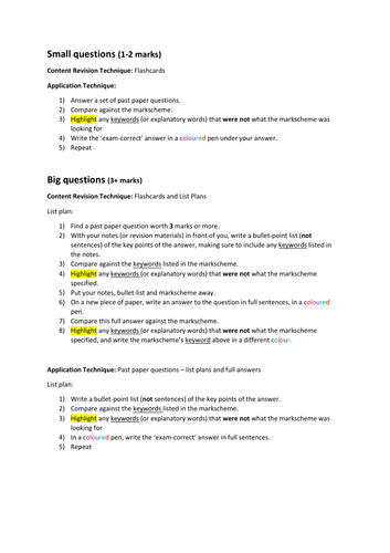 A-Level Biology Exam Revision Strategy