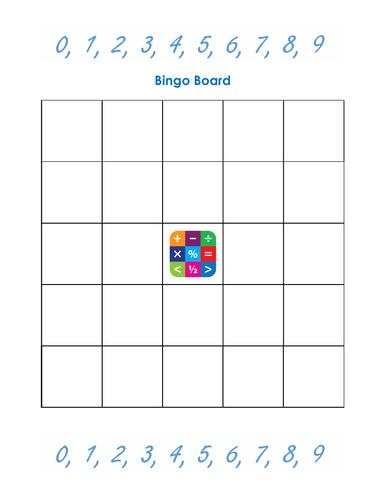 Universal bingo board