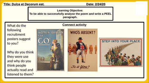 Eduqas Poetry Anthology Lessons