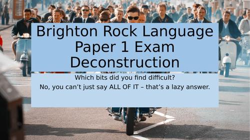 AQA English Language Paper 1: Brighton Rock