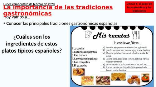 La importancia de las tradiciones gastronomicas