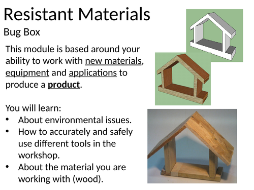 Key Stage 3 Resistant Materials Project