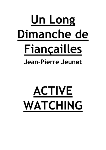 Un Long Dimanche de Fiancailles Active Watching Questions and Answers