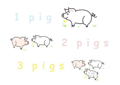 Phonic 'i' - 3 pigs