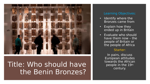 Who should have the Benin Bronzes?