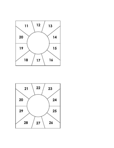 11-20 and 20-29 spinner overlays - compatible with numicon spinners