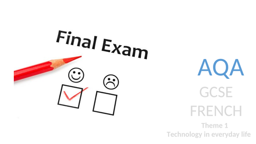 French GCSE Revision: Τechnology in everyday life