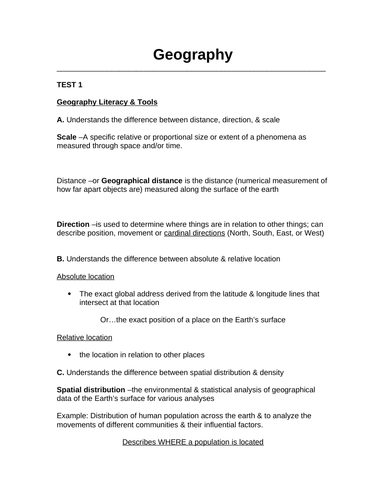 GACE Geography Study Guide for Prospective Teachers