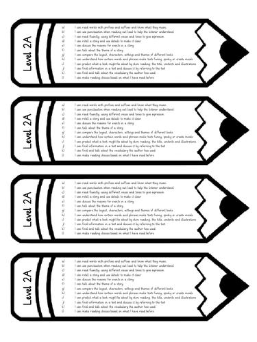 Levelled Bookmarks (Pencils)