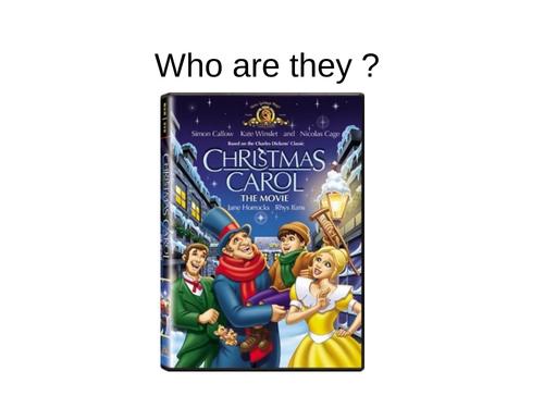 Christmas Carol - character revision