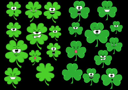Shamrock-Expressions- Clipart- For Personal or Commercial Use