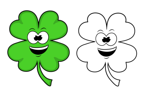 Shamrock- Happy- Clipart- For Personal or Commercial Use