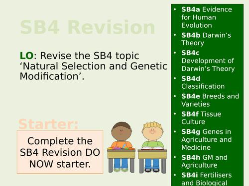 Edexcel SB4/CB4 Teacher Led Revision Lesson